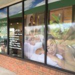 Massage window lettering