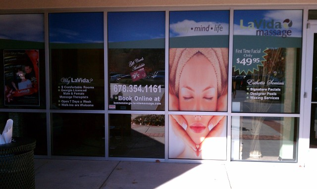 Massage window panels